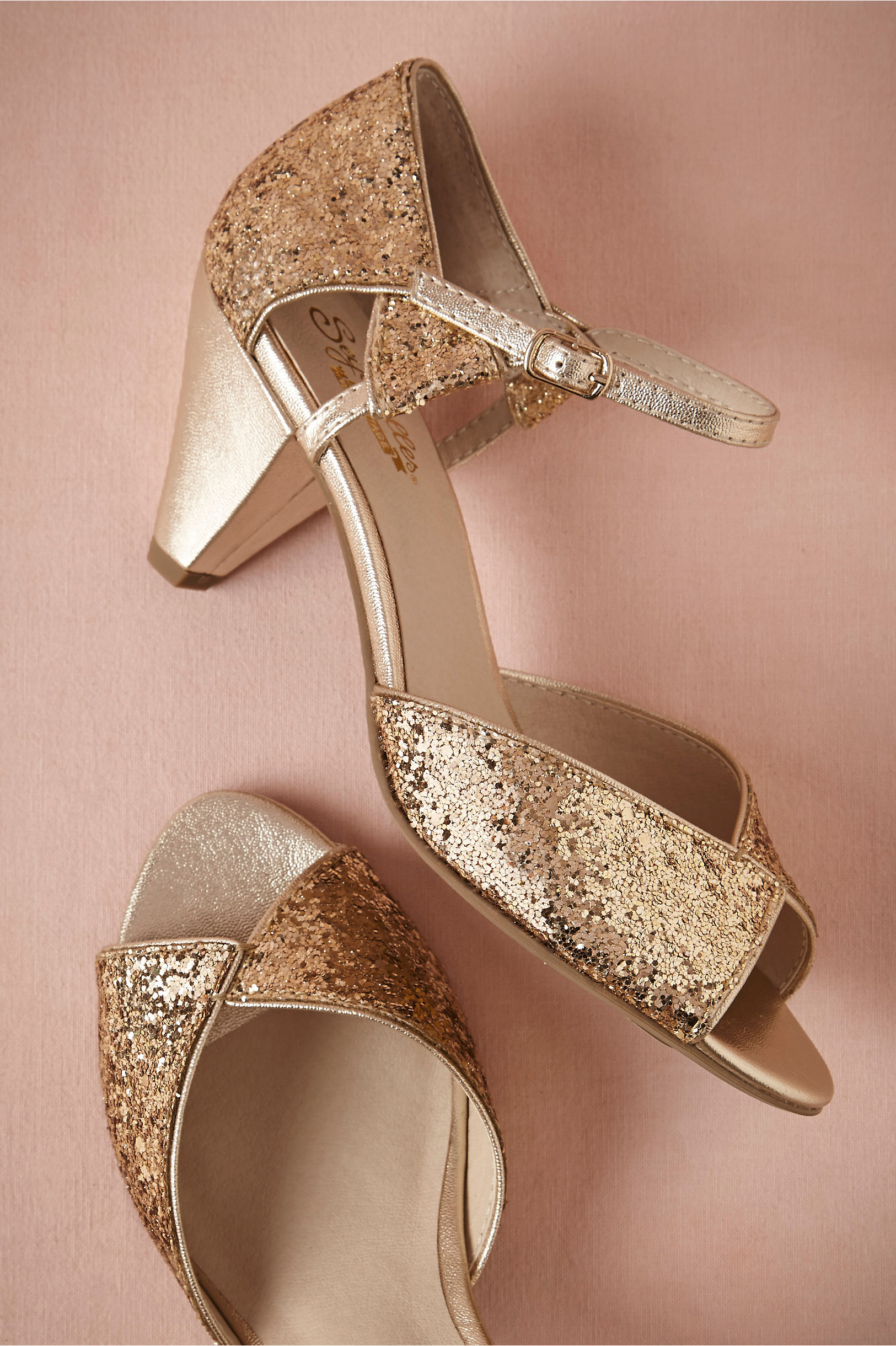 Glittering Gold Heels in Sale | BHLDN
