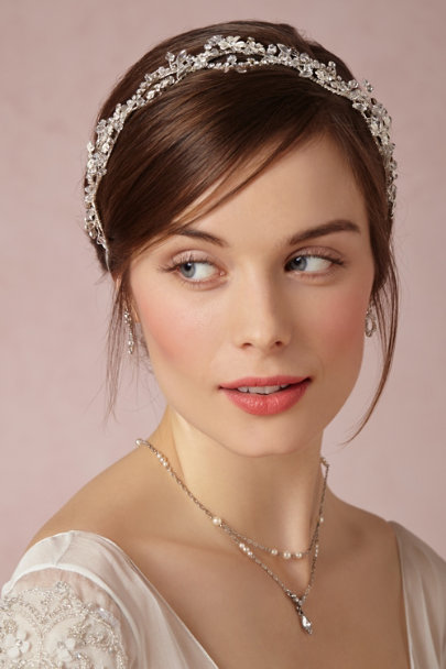 Silver Iva Halo | BHLDN