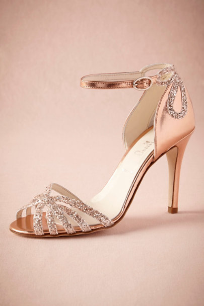 ROSE gold Rose Gold Glittered Heels | BHLDN