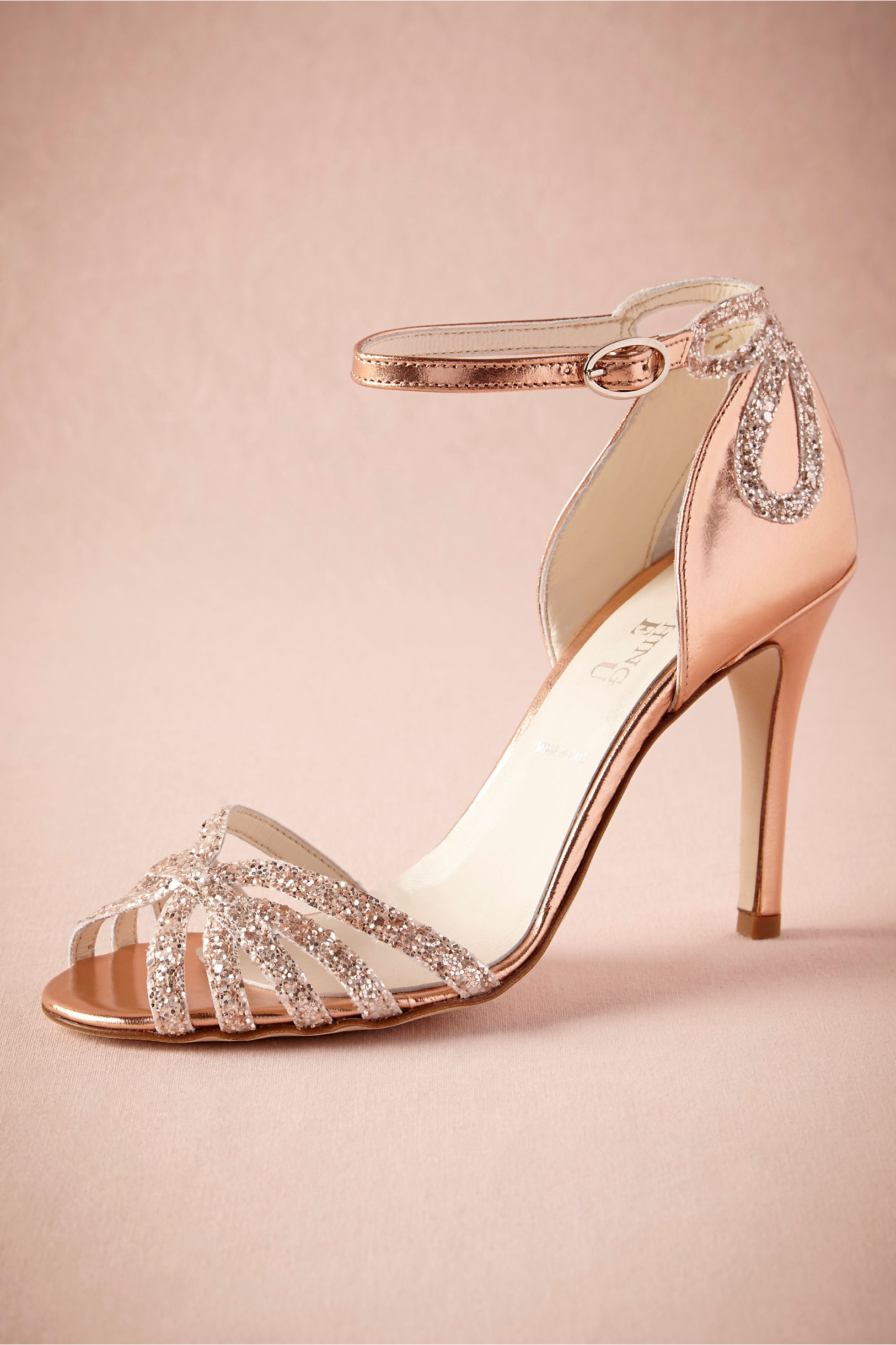 Rose Gold Glittered Heels in Sale | BHLDN