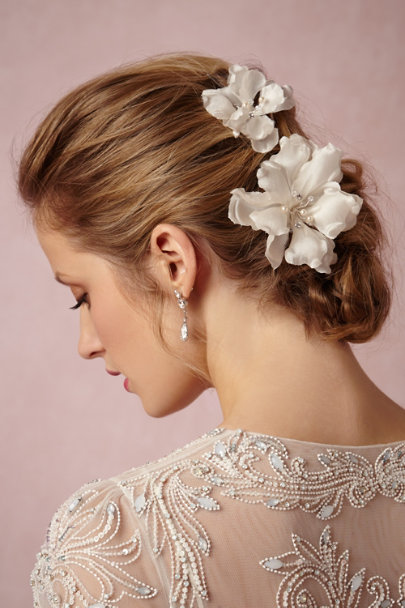 ivory Magnolia Hairpins (2) | BHLDN