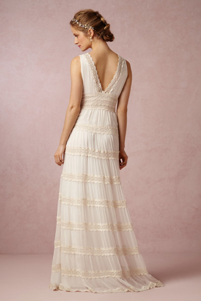 Kite and Butterfly ivory Rosemary Dress | BHLDN