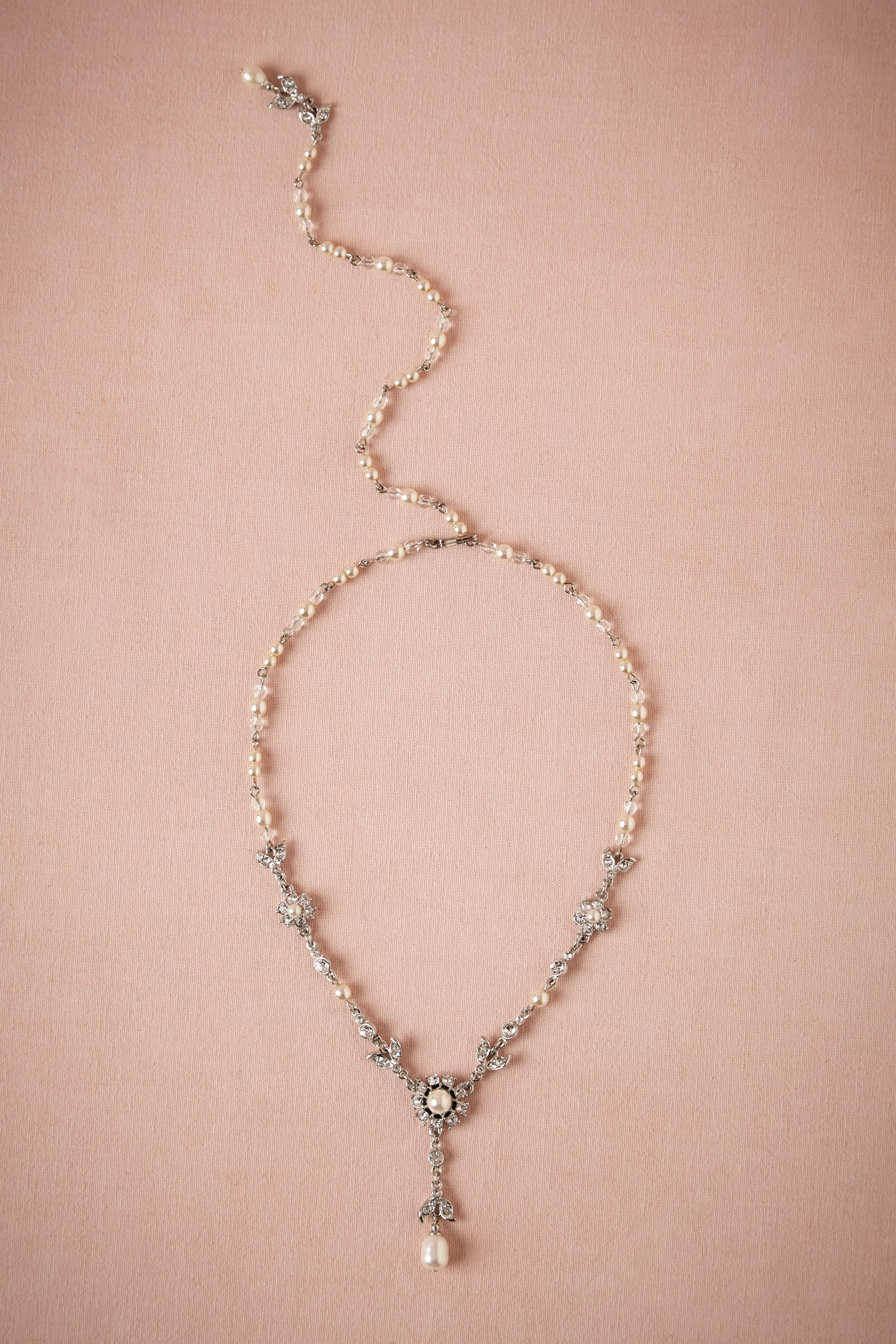 BHLDN Vintage Wedding Jewelry - Glinted Back Drape Necklace