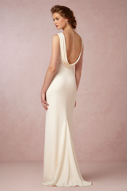 Glinted back drape necklace in sale bhldn for Back necklace for wedding dress