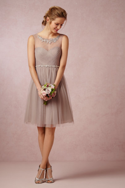 Jenny Yoo Mink Grey Chloe Dress | BHLDN