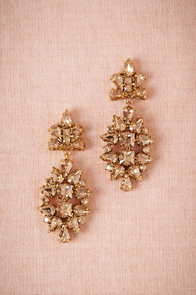 champagne Champagne Crystal Earrings | BHLDN