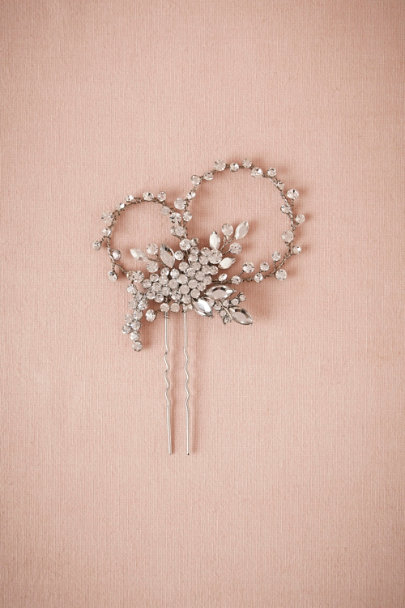 silver Crystallized Hairpin | BHLDN