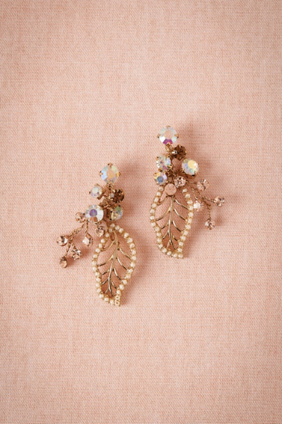 champagne Whimsical Earrings | BHLDN
