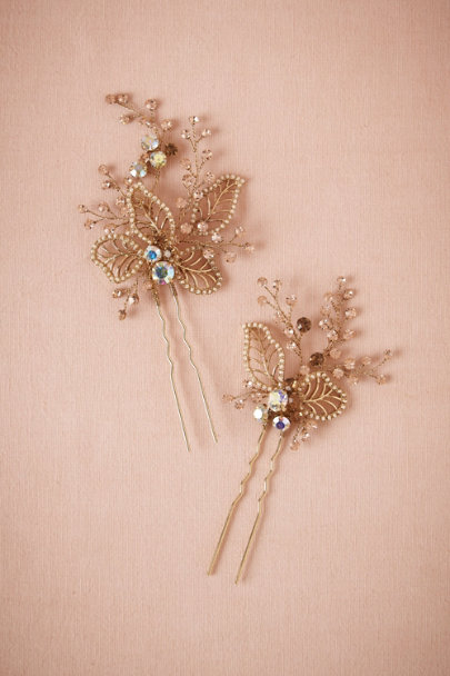 champagne Whimsical Hairpins (2) | BHLDN