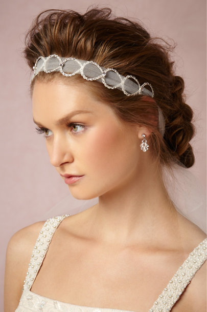 Debra Moreland ivory Looped Tulle Head Wrap | BHLDN