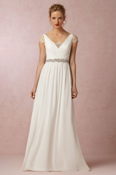 silver Eucalyptus Fitted Sash | BHLDN