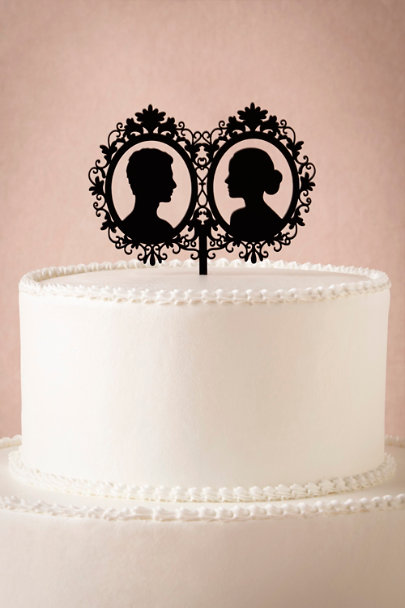 black Silhouette Cake Topper | BHLDN
