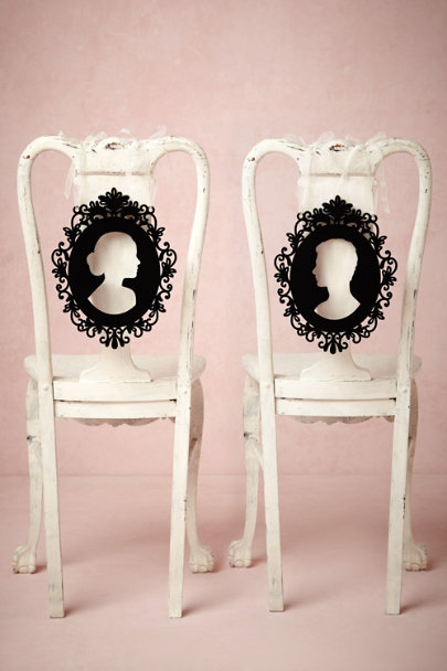 black Silhouette Chair Signs | BHLDN