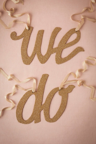gold We Do Chair Banner | BHLDN