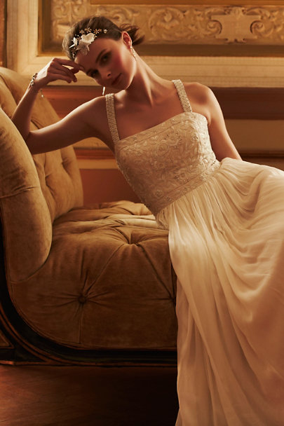 Ranna Gill ivory Carolina Gown | BHLDN
