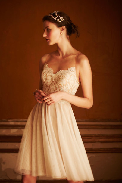ivory/bronze Messina Dress | BHLDN
