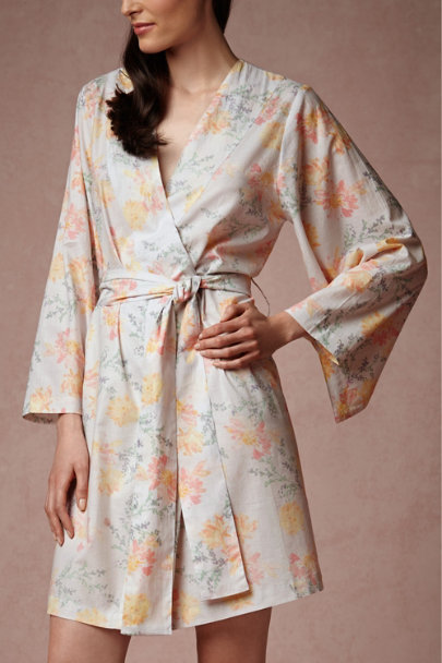 willa Painted Petal Robe | BHLDN