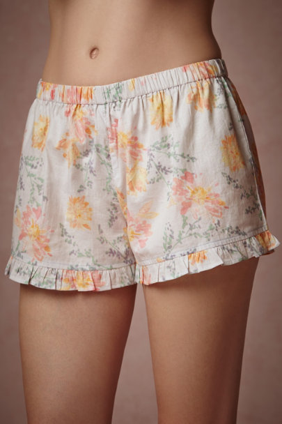 willa Watercolor Blooms Shorts | BHLDN