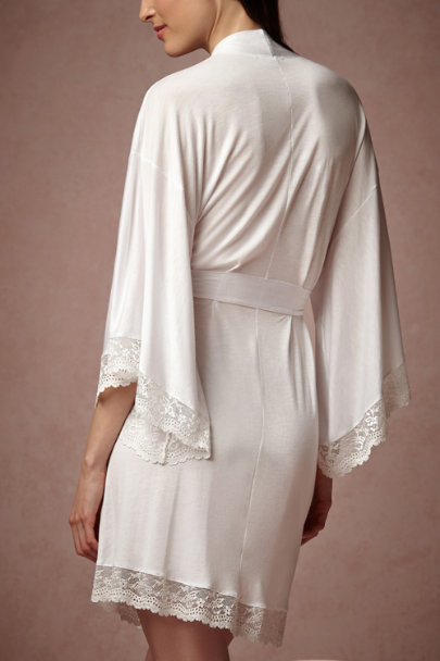 white Josette Robe | BHLDN