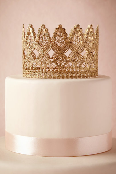 gold Crowned Cake Topper | BHLDN
