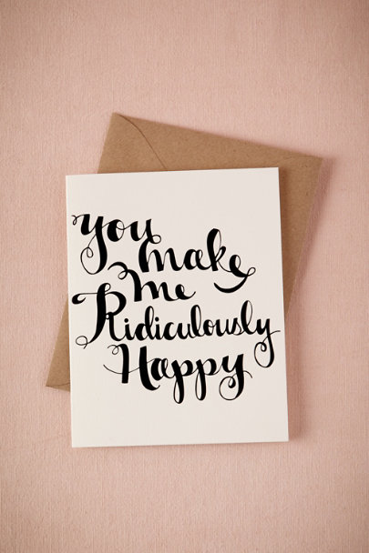 cream Ridiculously Happy Card | BHLDN
