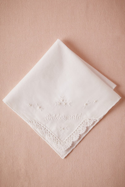 white Bridesmaid Kerchief | BHLDN