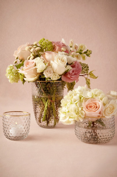 Clear Golden Hobnail Vessels | BHLDN