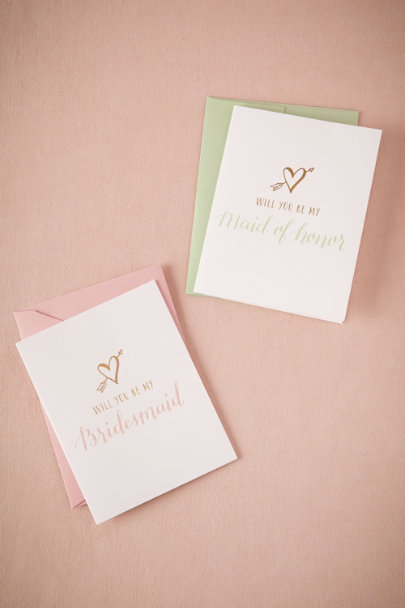 Bridesmaid Lovestruck Will You Be My Card | BHLDN