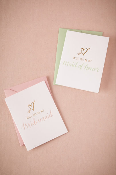 Maid of Honor Lovestruck Will You Be My Card | BHLDN