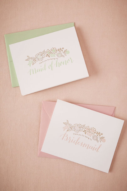 Bridesmaid Lovestruck Thank You Card | BHLDN