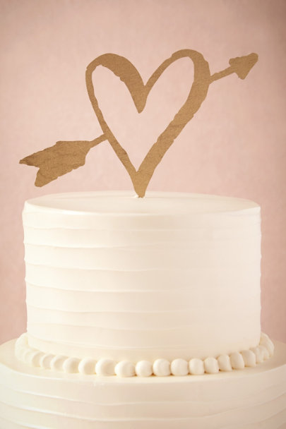 GOLD Lovestruck Cake Topper | BHLDN