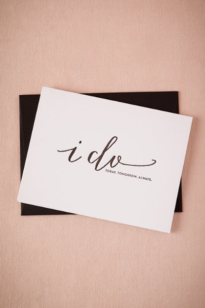 white Today, Tomorrow, Always Card | BHLDN