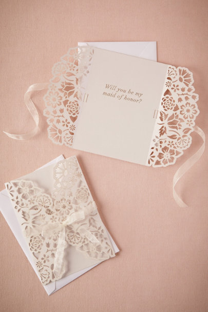 ivory Lacy Maid & MOH Card | BHLDN