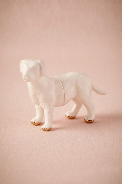 White Pup Card Holder | BHLDN