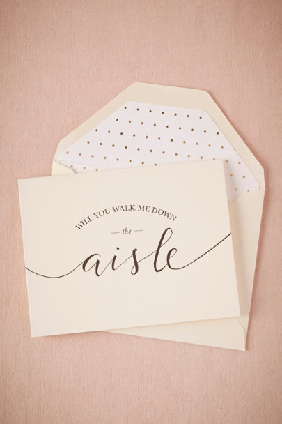 Sugar Paper ivory Aisle Accompaniment Card | BHLDN