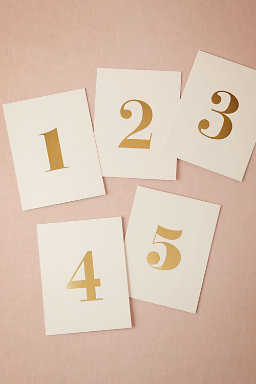Foil Table Numbers (5)