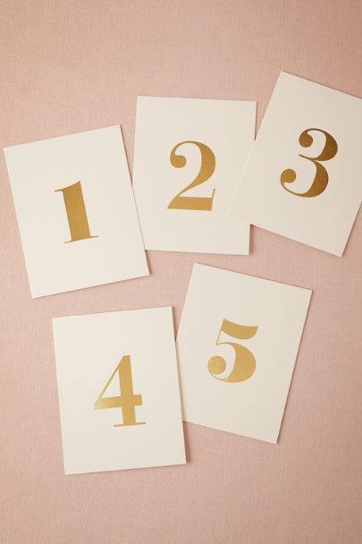 GOLD Foil Table Numbers (5)  | BHLDN