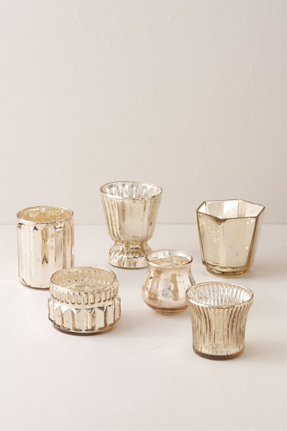 GOLD Mixed Mercury Votives | BHLDN