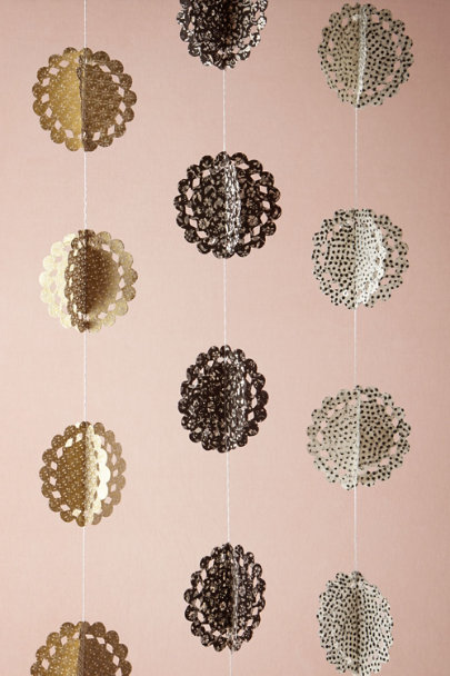 black Black & Gold Circle Garlands (3) | BHLDN