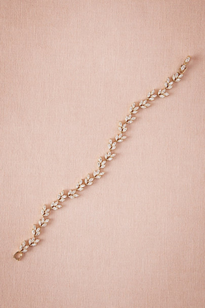 Untamed Petals Gold Pia Crystal Bracelet | BHLDN