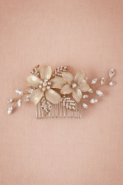 Gold Sweet Pea Comb | BHLDN