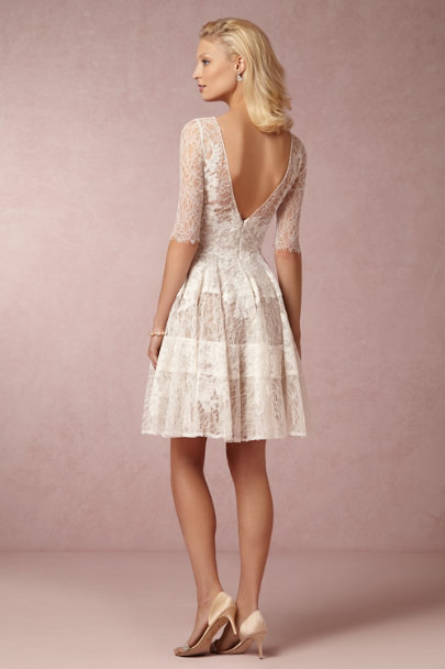 Watters ivory/bronze Barletta Dress | BHLDN