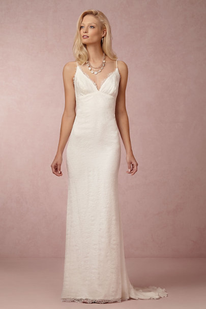 Jamie gown in sale bhldn for Anthropologie beholden wedding dress