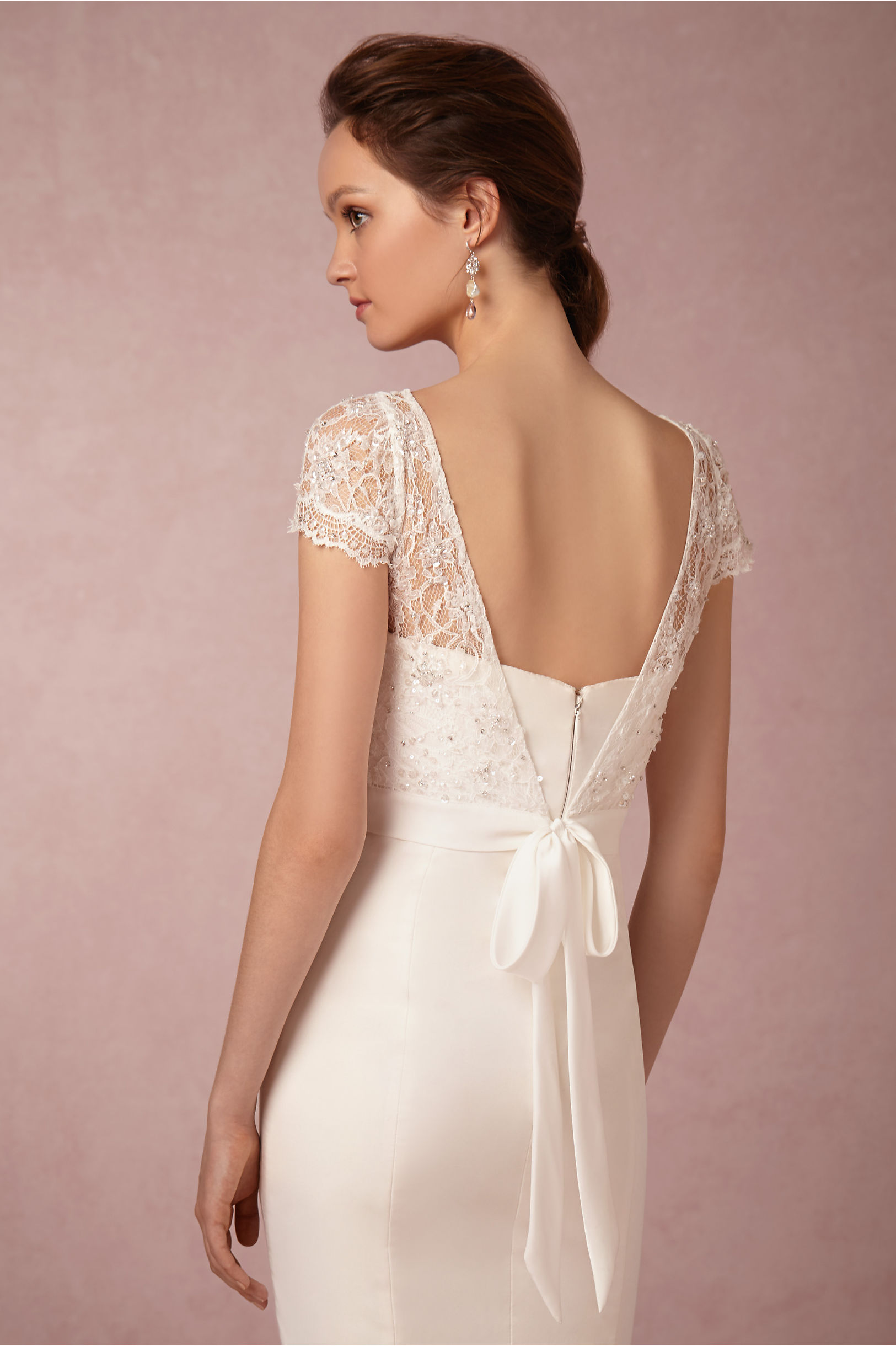 wedding dress lace topper wedding dress cover Jenny Yoo Ivory Luciana Topper Bhldn