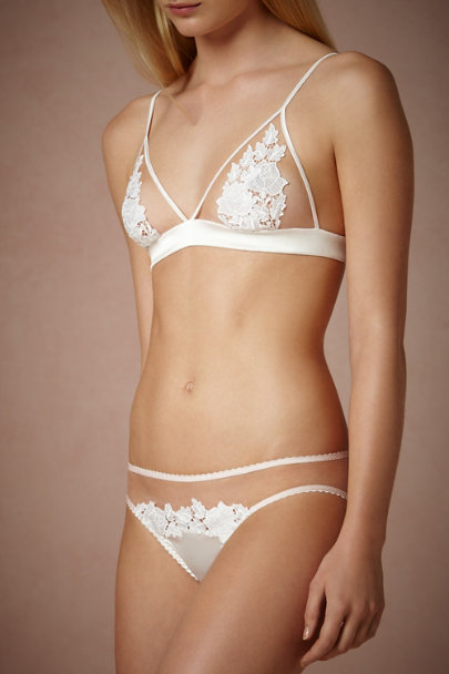 Fleur of England ivory Maid of Orleans Bralette | BHLDN