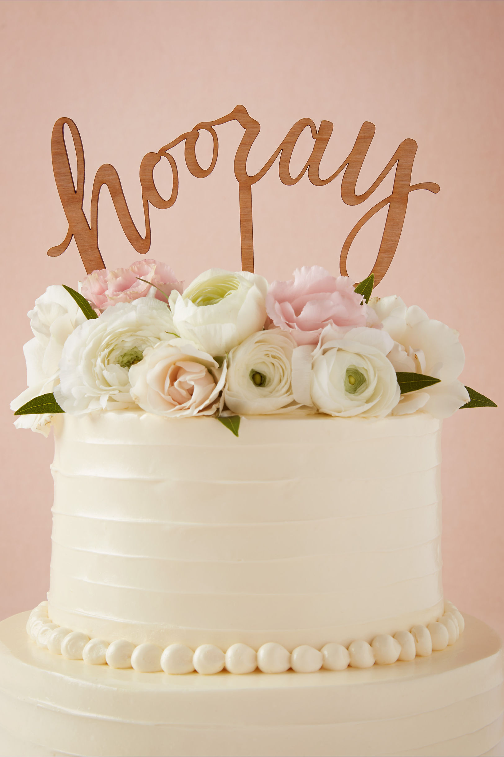 natural hooray cake topper bhldn - Cake Decorations