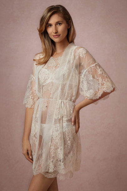 Mae Chantilly Lace Robe In Sale Bhldn