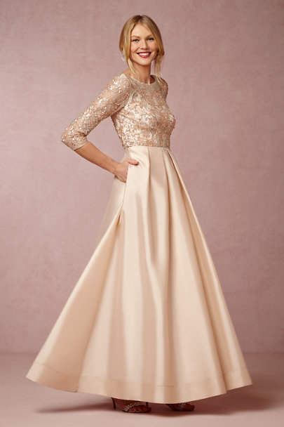 Aidan Mattox blush Viola Dress | BHLDN