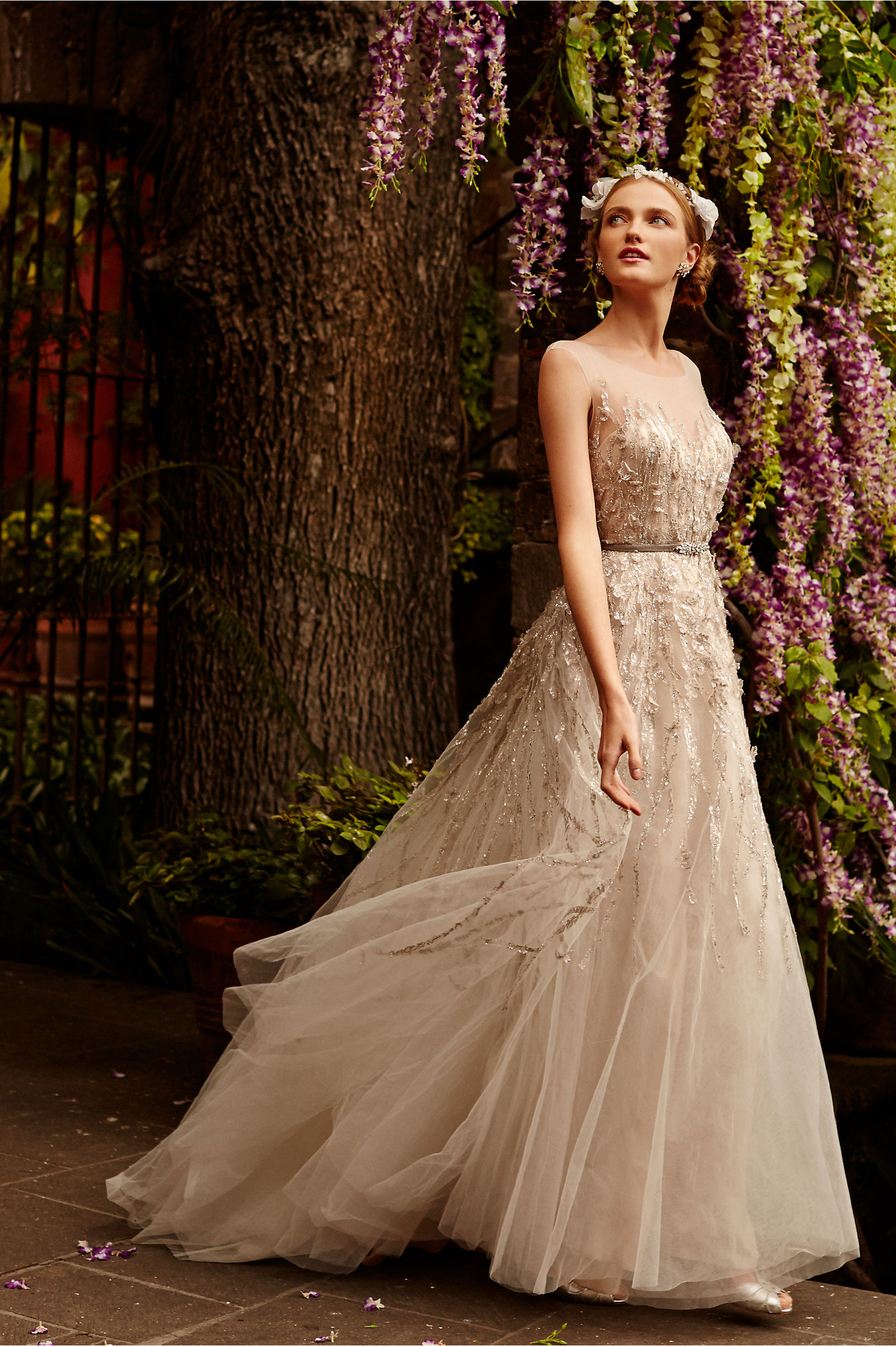 wisteria gown wedding gowns Watters Sandstone Wisteria Gown BHLDN