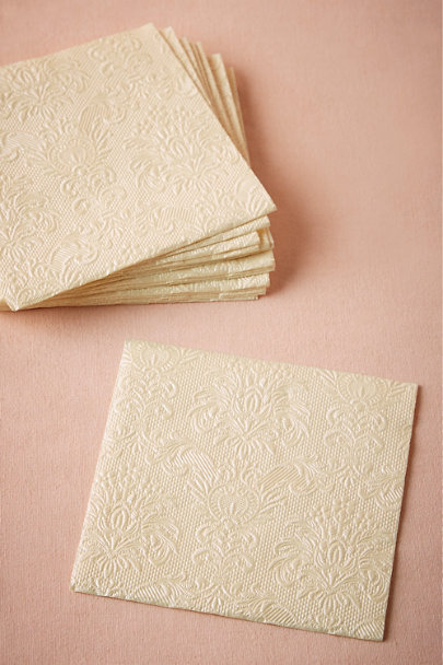 Pearl Cream Chantilly Cocktail Napkins (15) | BHLDN